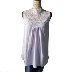White birch purple laced sleeveless top